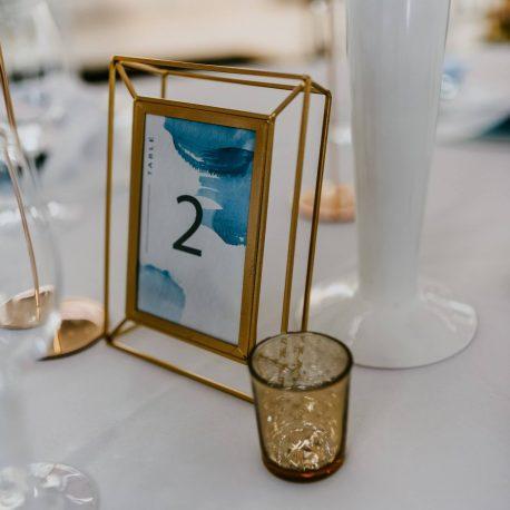 Hochzeit Tisch Dekoration Hellblau tischnummer