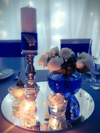 Tischdekoration-blau