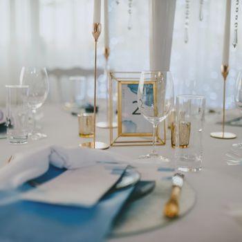 Papeterie Tischdeko blau