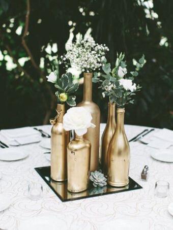 Goldene Flaschen