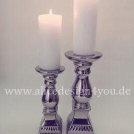 Kerzenständer 2-er set silber mieten