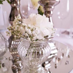 Kerzenständer silber keramik