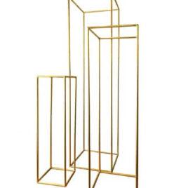 """Metall Säulen (3er Set) """"Geometrisch"""""""