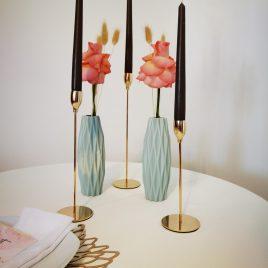 Kerzenständer 3-er Set gold