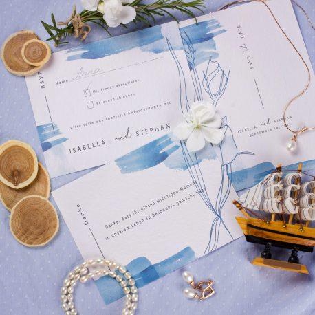 Einladungskarten Papeterie Aquarell